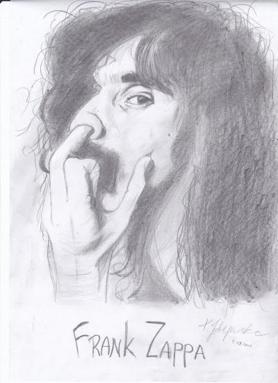 Frank Zappa by ciastkozdzemem